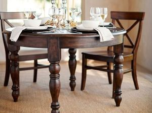 Pottery Barn EVELYN EXTENDING ROUND DINING TABLE pottery barn pre-memorial day sale
