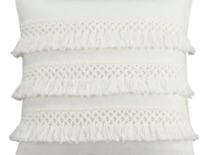 cupcakes and cashmere Fringe Chambray Dot Pillow White Nordstrom cupcakes and cashmere home decor line