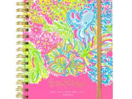 Lilly Pulitzer 2016-2017 LARGE AGENDA - LOVERS CORAL Multi Lovers Coral