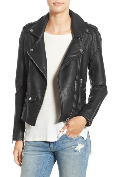 Vince Camuto Women's Leather Moto Jacket Lastly, like another reviewer mentioned, this jacket sells at Nordstrom for a LOT more money. Take advantage of the Veterans Day sale and get it here. Beautiful jacket, my only issue is that the black is not a true black. It looks a little brown. Other then that, the quality is very nice/5(15).