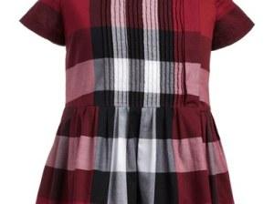 Burberry 'Neive' Check Print Dress (Little Girls & Big Girls) Dark Plum Pink Nordstrom anniversary sale little girls clothing
