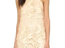 Lovers + Friends Caspian Lace Shift Dress Bone lace dresses summer casual