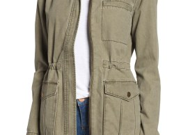 BP. Cotton Canvas Anorak Olive Burnt nordstrom fall fashion candace rose