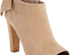 candace rose Delman 'Dylan' Peep Toe Bootie (Women) Camel Suede nordstrom candie anderson fashion blogger