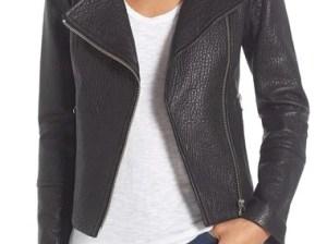 Mackage Funnel Neck Leather Jacket Black Nordstrom anniversary sale women's fashion under $500