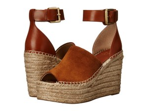 Marc Fisher LTD Adalyn Wedge Sandals Natural Suede wedge sandals fall