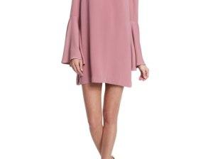 Keepsake Faithful Bell-Sleeve Mini Dress Rose Pink bell sleeve dresses fall 2016