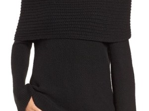Sun & Shadow Cowl Off the Shoulder Sweater Black off the shoulder sweaters fall 2016