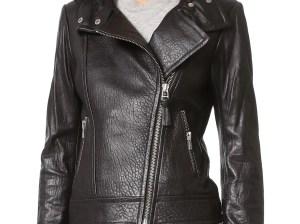 Mackage Lisa Pebbled Leather Jacket Black Shopbop end of season sale