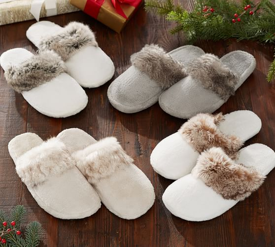 pottery barn faux fur sale save 50 on throws pillows slippers and more