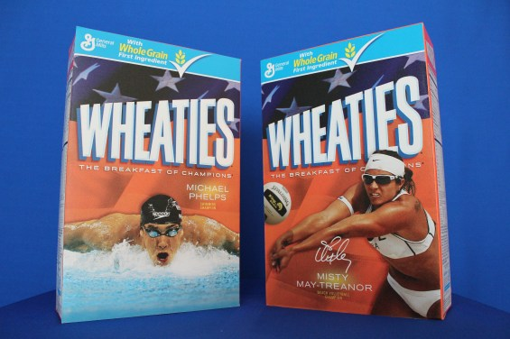 Phelps and May Treanor 3D 1024x682 Images + Video: Olympic Gold Medalists Michael Phelps & Misty May Traenor Limited Edition Wheaties Boxes Unveiled!
