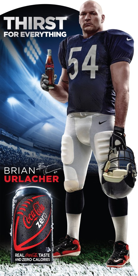ViewMedia 1 512x1024 Coke Zero Signs Bears Linebacker Brian Urlacher and Blackhawk Patrick Sharp