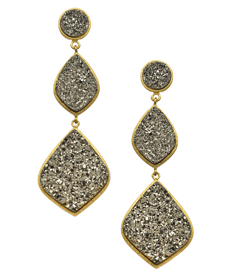 Andara 08122012 017 gunmetal druzy gold drop earrings L Sale Alert! Max&Chloe Jewelry Labor Day Sale Favorites! 