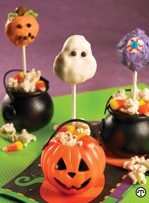 ViewMedia 2 Foodie Recipe: Ghoulish Halloween Popcorn Cake Pops! 