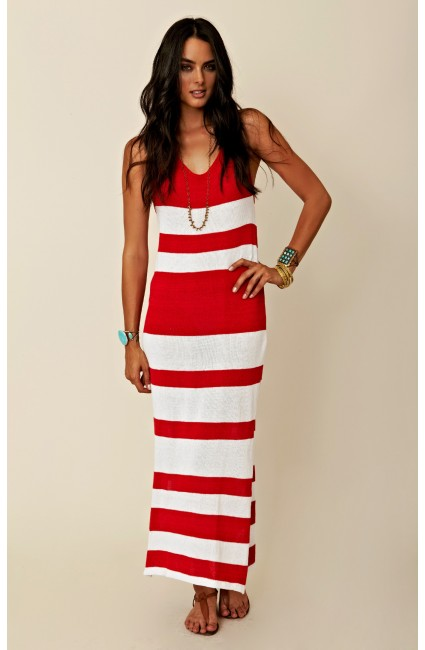 indah red stripe maxi 1 Sale Alert! 10% Off Our Favorite New Beachy Boho Chic Merchandise at Planet Blue!