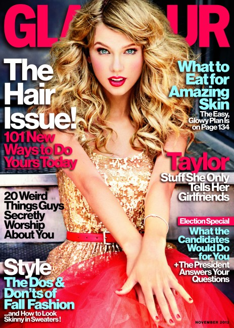 Glamour NovemberCover 728x1024 Celeb Images: Pop star Taylor Swift Talks Kennedys, Girlfriends & Life with ABCs Cythia McFadden for Glamour Magazines November issue