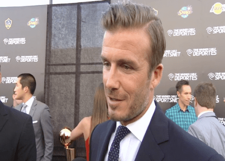 david beckham  Images + Video: David Beckham, Magic Johnson, Kobe Bryant & LA Athletes Celebrate the Launch of Time Warner Cable SportsNet Networks