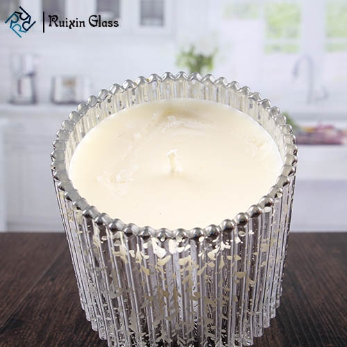 China Suppliers Creative Mercury Glass Candle Holders Bulk Unique Candle
