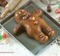 gingerbread cookie candle