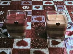 Chocolate Cherry Striped Candles