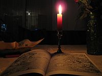 Candle & book photo by Martin Boose