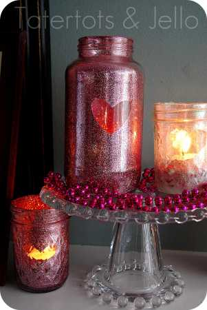 Valentine's Glitter Candles @ Craft Gossip