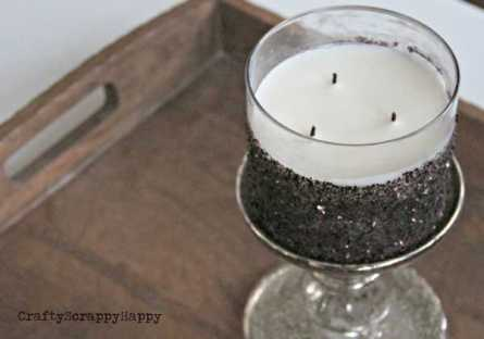 Dark Glitter Candles @ Craft Gossip