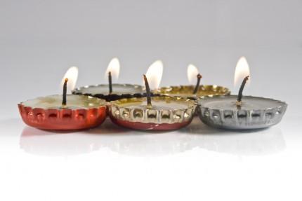 Bottle Cap Candles @ Craft Gossip