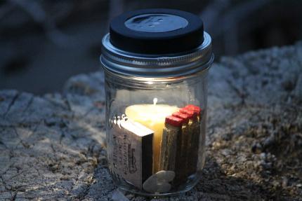 Solar Powered Mason Jar Camping Lantern