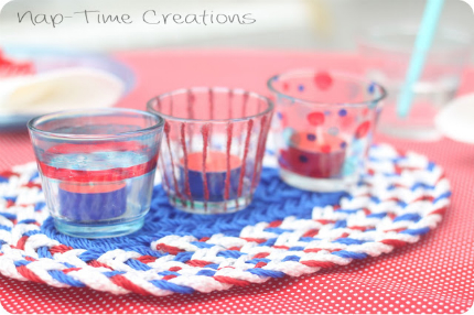 Simple Patriotic Tea Light Holders