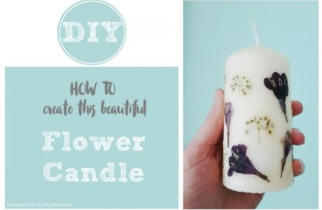 Easy To Make Pressed Flower Candles