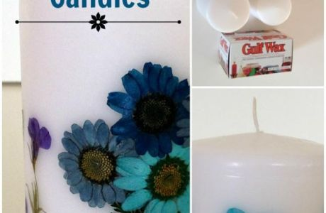 Store Bought Candles Flower Hack