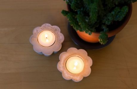 Easy To Make Industrial Candle Holders