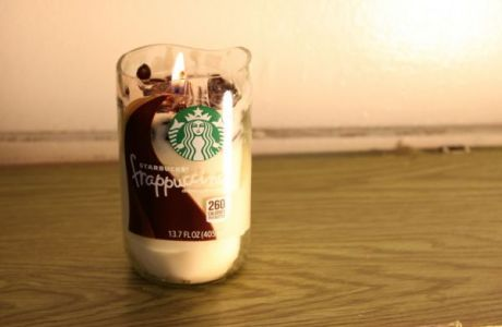 DIY Starbucks Frappuccino Candle