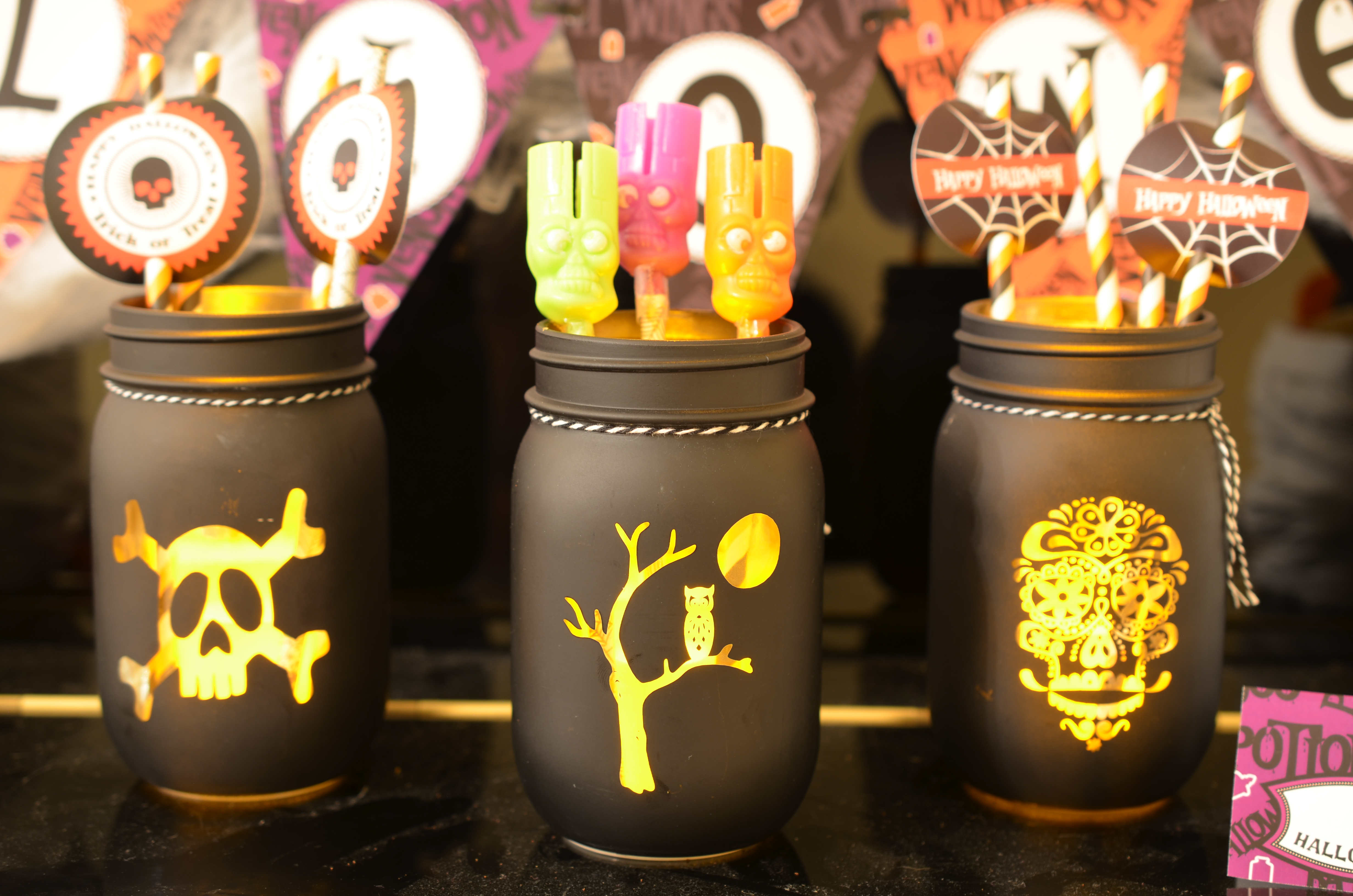 Candles With Gifts Inside Free Halloween Printable Party Package Candles And Favors