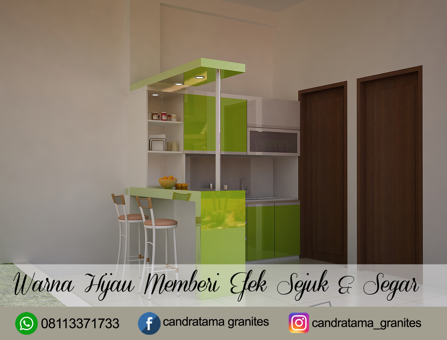 Interior Hijau Desain Kitchen Set Hijau Jasa Interior Kitchen Set Minimalis