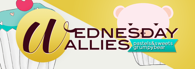 Wednesday Wallies: Pastels & Sweets + Grumpy Bear