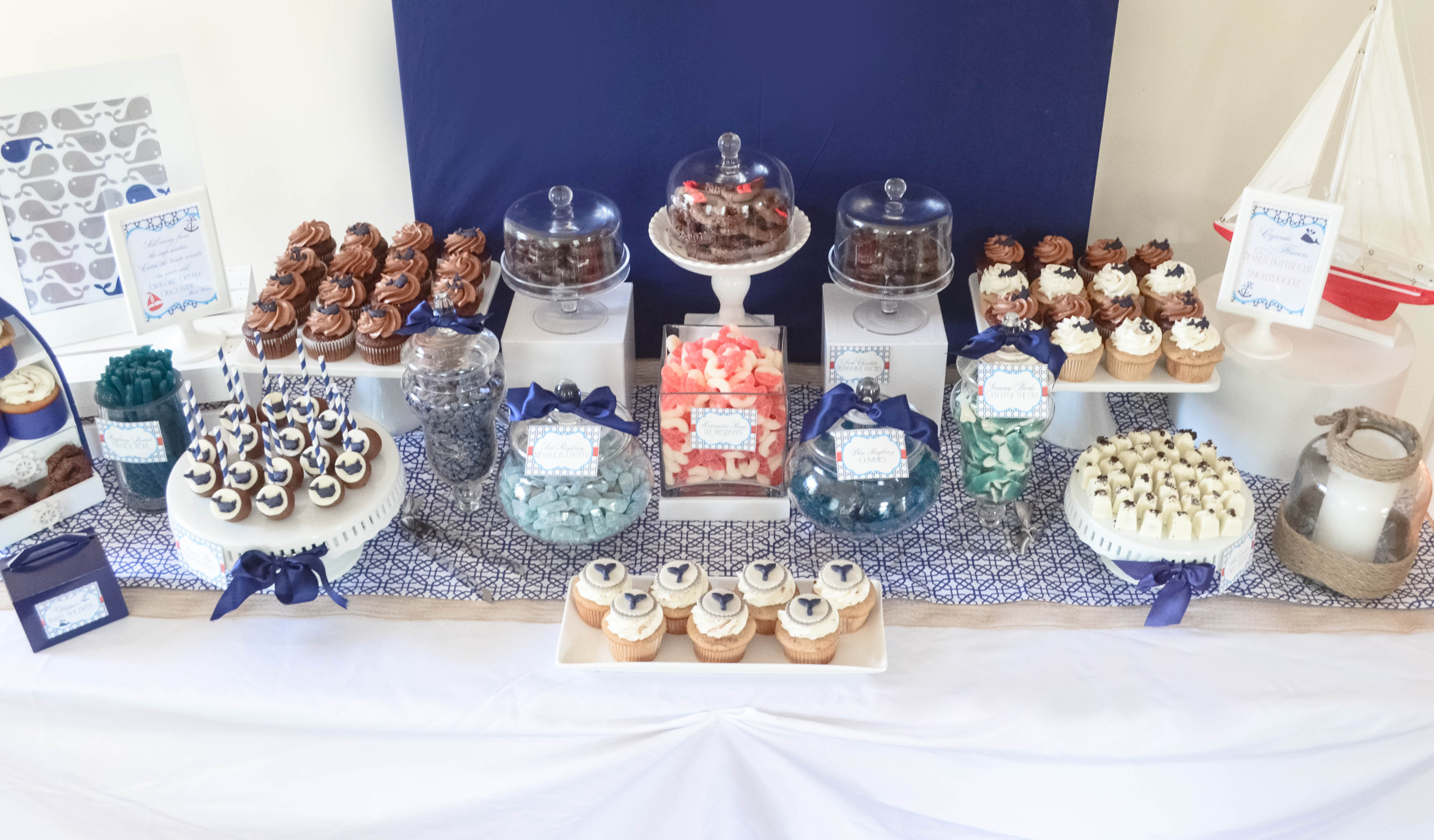 Preferential Nautical Candy Navy Desssert Table Www Nautical Whale Baby Shower Dessert Table Cw Boy Baby Shower Ideas Sports Boy Baby Shower Ideas Ducks ideas Boy Baby Shower Ideas