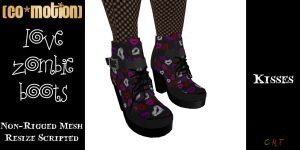 {CoMo} Love Zombie Boots -C- Kisses
