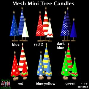 DD Mesh Mini Tree Candles for Gacha