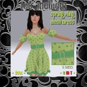 {Co_Motion} Spring Fling Mesh Dress (Advert)