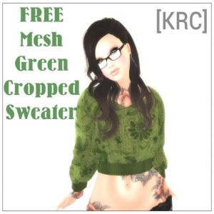 [KRC] green event freebie sweater