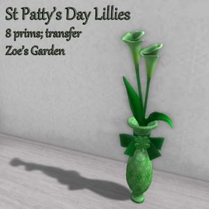 St Patty's Day Calla Lillies AD