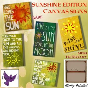 [ free bird ] Sunshine Edition Canvas Ad
