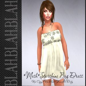 blah.BLAH.blah_MESH_ Starshine Bag Dress-Cream