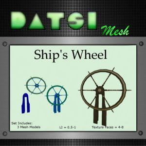 DATSI Mesh - Ship's Wheel Vendor Texture