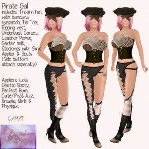 lyrs boutique pirate gal add