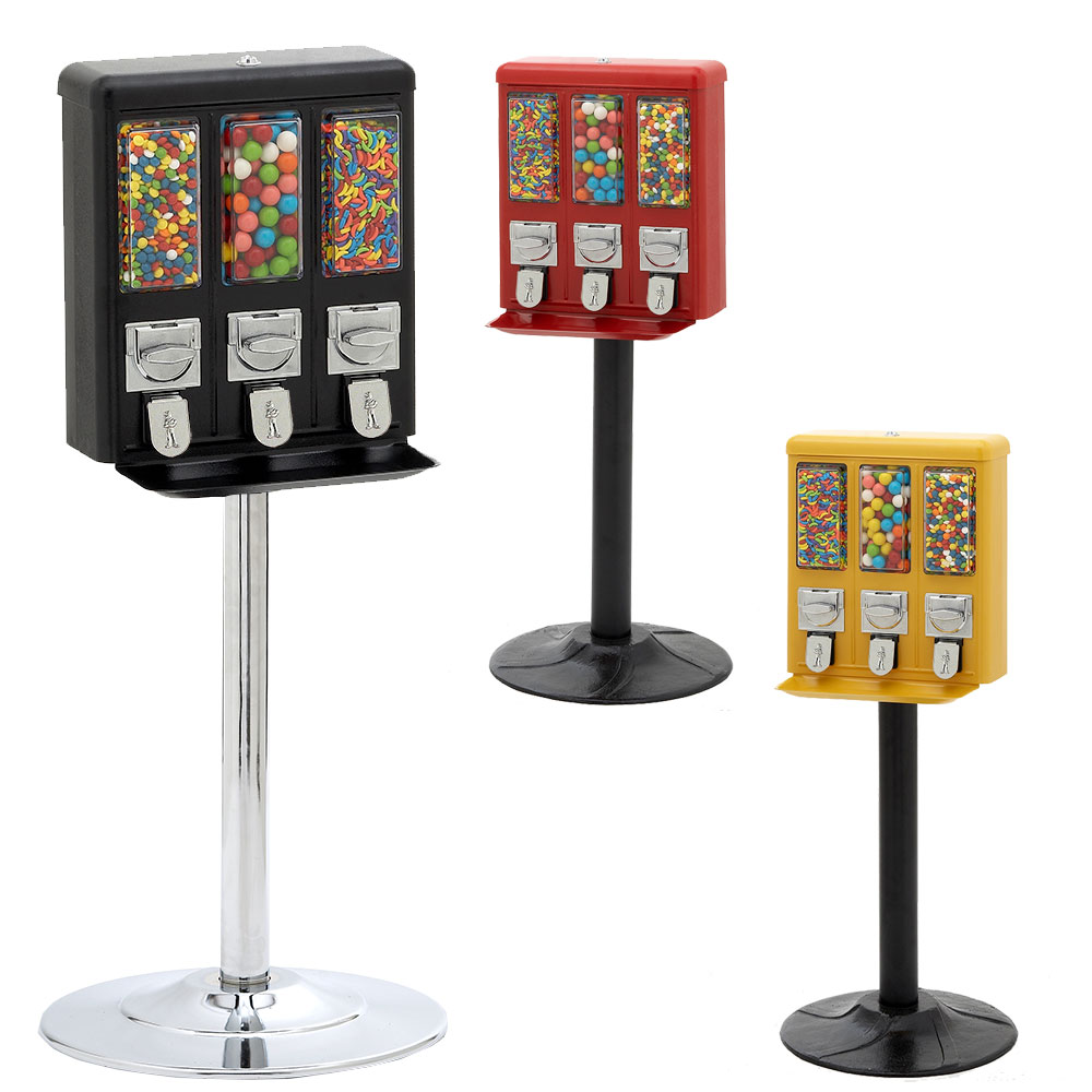Machine Triple Shop Gumball And Candy Machine