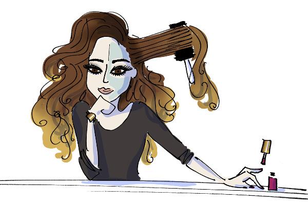Beauty writer French Oje illustration