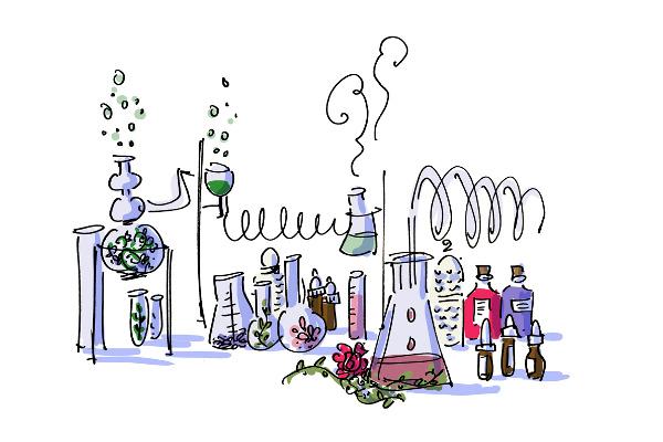 Homemade Aromaterapi illüstrasyonu